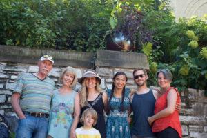 Bruce, Claudia, Naomi, little Cedric, Hannah, Jesse and Aubri Porter